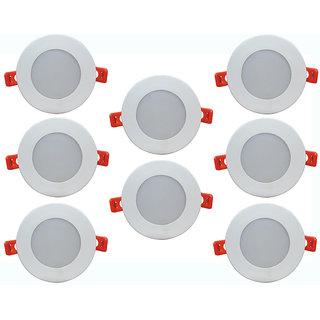Bene LED 6w Round Ceiling Light, Color of LED White (Pack of 8 Pcs)
