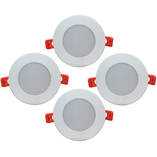 Bene LED 6w Round Ceiling Light, Color of LED Warm White (Yellow) (Pack of 4 Pcs)