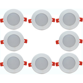 Bene LED 6w Round Ceiling Light, Color of LED Warm White (Yellow) (Pack of 8 Pcs)