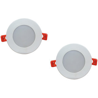 Bene LED 6w Round Ceiling Light, Color of LED Red (Pack of 2 Pcs)
