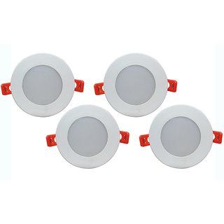 Bene LED 6w Round Ceiling Light, Color of LED Green (Pack of 4 Pcs)