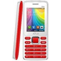 Aqua Shine Dual SIM Basic Mobile Phone - White+Red - 2100 MAh