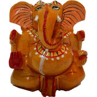 Creative Rajasthan WOODEN APPU GANESH STATUE PAINTED (CR-WAGSP-(RA103-3))