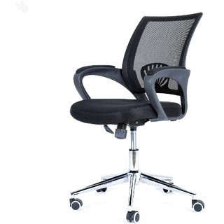 Royal Oak Berry Computer Chair With Black Upholstery