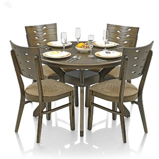 buy royal oak sydney dining set with 4 chairs solid wood online