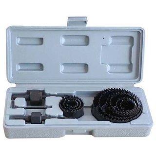 11 PC DRILL MACHINE HOLE SAW KIT PLASTIC WOOD METAL CUTTER CARBON METAL HOLE SAW