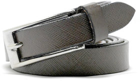 Wholesome Deal womens brown colour Leatherite pin buckle belt with 1 inches