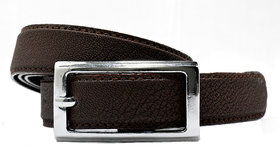 Wholesome Deal womens chocolate colour non Leatherite pin buckle belt with 1 inches