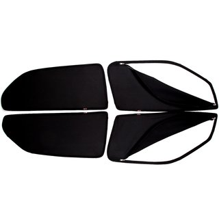 Able Black Car Magnetic Sun Shade Curtains With Zipper For TATA MANZA VISTA Set Of 4
