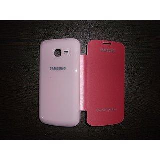 best service bb716 7cdc5 Samsung Galaxy Star Pro GT-S7262 Flip Cover case - Pink
