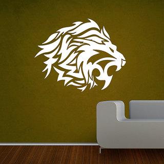 Decor Kafe Lion Roars Wall Sticker (19x12 Inch)