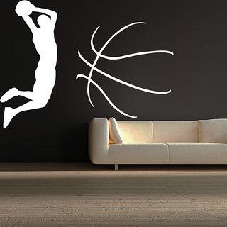 Decor Kafe Men Throws Ball Wall Sticker (17x12 Inch)
