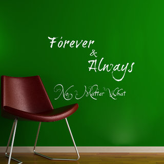 Decor Kafe Forever and Always Wall Sticker (18x14 Inch)