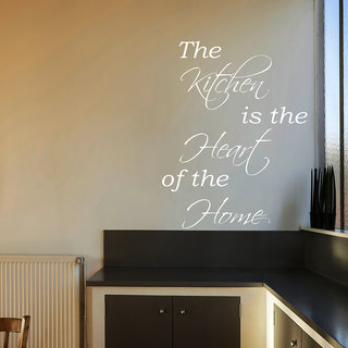 Decor Kafe Kitchen Is The Heart Wall Sticker 17x24 Inch)