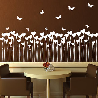 Decor Kafe Love Butterflies Wall Sticker (20x12 Inch)