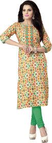 Khoobee Presents Cotton Stylish Kurti(Multi,Yellow)