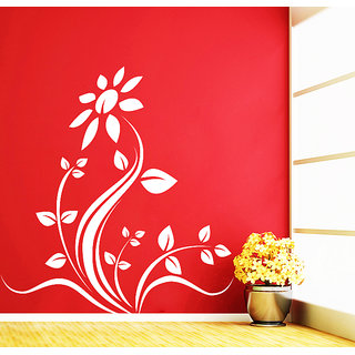 Decor Kafe Rose Floral Wall Sticker (14x14 Inch)