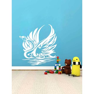 Decor Kafe Swann Wall Sticker (13x17 Inch)