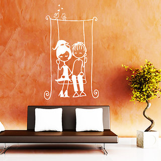 Decor Kafe Child Lovers Wall Sticker (12x20 Inch)