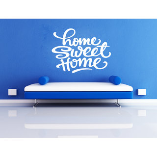 Decor Kafe Sweet Home Quote Wall Sticker (20x18 Inch)