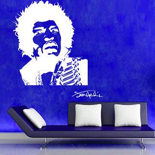 Decor Kafe Jimi Hendrix Wall Sticker 17x19 Inch)
