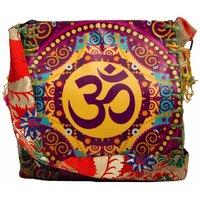 The House Of Tara Women Multicolor Jute Cotton Polyester Sling Bag HTCB 025