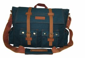 The House Of Tara 15 inch Laptop Messenger Bag (Combat Blue) HTMB 03