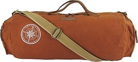 The House of Tara Waxed Canvas Duffle/Gym Bag 20 inch/50 cm (Rust)