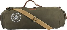 The House of Tara Waxed Canvas Duffle/Gym Bag 20 inch/50 cm (Olive Green)