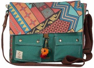 The House Of Tara 15 inch Laptop Messenger Bag (Multicolor) HTMB 018