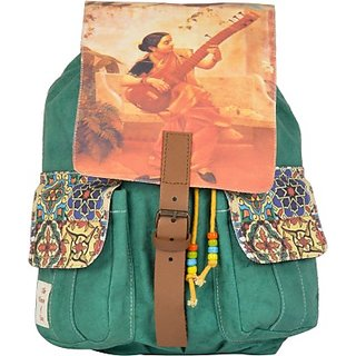 The House of Tara Printed Canvas 044 20 L Medium Backpack (Multicolor Size - 350) HTBP 044