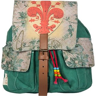 The House of Tara Printed Canvas 045 20 L Medium Backpack (Multicolor Size - 350) HTBP 045