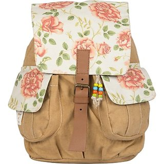 The House of Tara Printed Canvas 048 20 L Medium Backpack (Multicolor Size - 350) HTBP 048