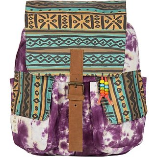 The House of Tara Printed Canvas 051 20 L Medium Backpack (Multicolor Size - 350) HTBP 051