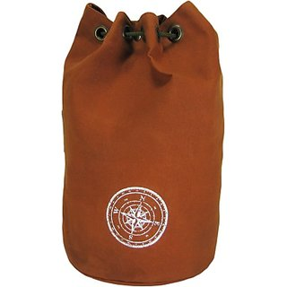 The House of Tara Wax Coated Cotton Canvas Rucksack 21 L Backpack (Rust) HTBR 01