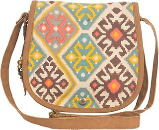 The House of Tara Girls Women Casual Multicolor Canvas Polyester Sling Bag HTSB 020