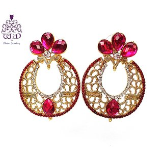 Splendid Round Mesh Fashion Earrings by WiD(Pink)