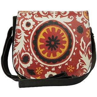 The House of Tara Women Casual Black PU Sling Bag HTSB 024