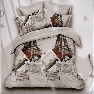 Aspire Inc InStyle Collection  Double Bedsheet With 2 Pillow Covers InStyle0009