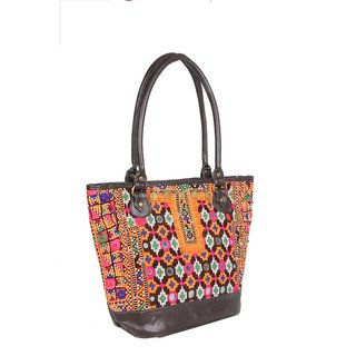 Jaipur Textile HubTraditiona Afgani Embordried Bag(Multicolor)