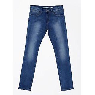 Indigo Jeanscode Slim Fit Men Jeans Fabric Cotton  Elastane Blue in color
