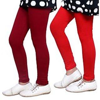 Indiweaves Kids Super Soft Cotton Leggings Combo 2-(7140071404-IW-K)