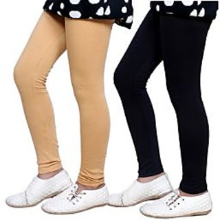 Indiweaves Kids Super Soft Cotton Leggings Combo 2-(7140171405-IW-K)