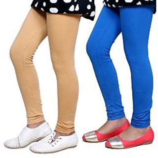 Indiweaves Kids Super Soft Cotton Leggings Combo 2-(7140171409-IW-K)
