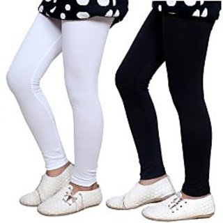 Indiweaves Kids Super Soft Cotton Leggings Combo 2-(7140371405-IW-K)