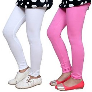 Indiweaves Kids Super Soft Cotton Leggings Combo 2-(7140371408-IW-K)