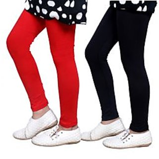 Indiweaves Kids Super Soft Cotton Leggings Combo 2-(7140471405-IW-K)