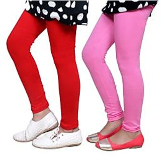 Indiweaves Kids Super Soft Cotton Leggings Combo 2-(7140471408-IW-K)