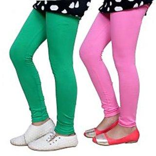 Indiweaves Kids Super Soft Cotton Leggings Combo 2-(7140671408-IW-K)
