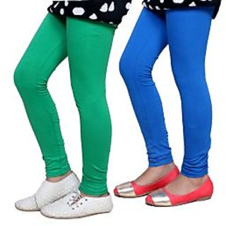 Indiweaves Kids Super Soft Cotton Leggings Combo 2-(7140671409-IW-K)